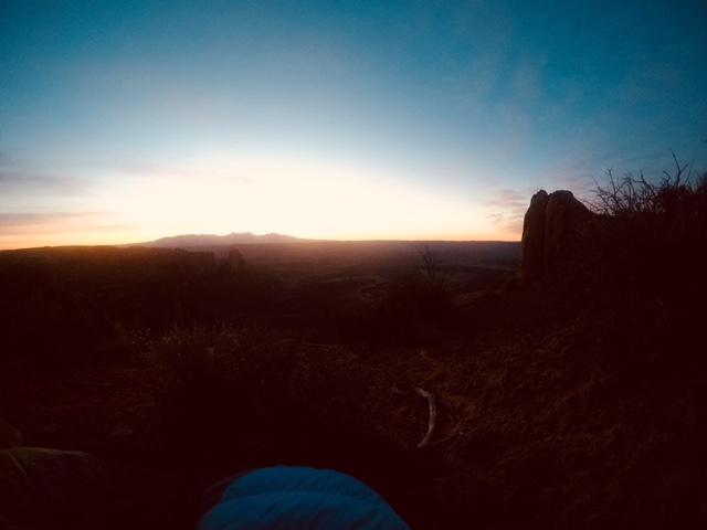Auringonnousu Canyonlands