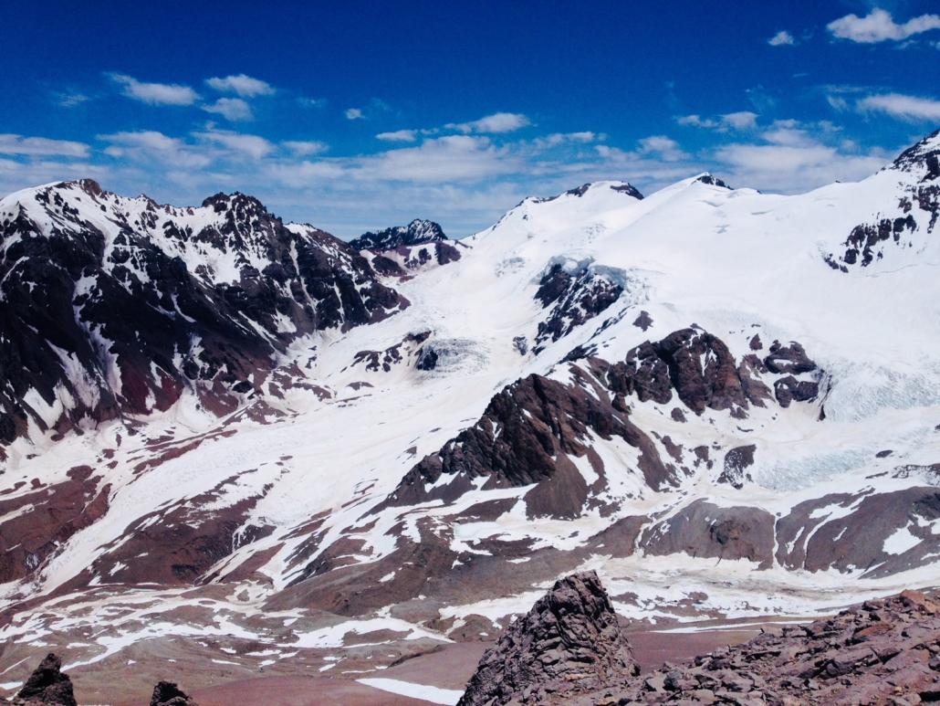 vuorikipeilemässä Argentiinassa Aconcagualla