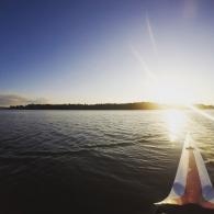 Auringonlasku Seurasaaren edustalla