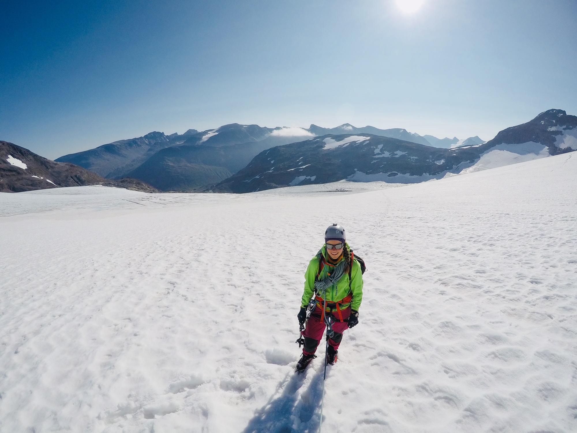 Norjan kuuma jäätikköä