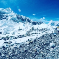 Kuva Everestin perusleiristä 5300 metriä - Nepali