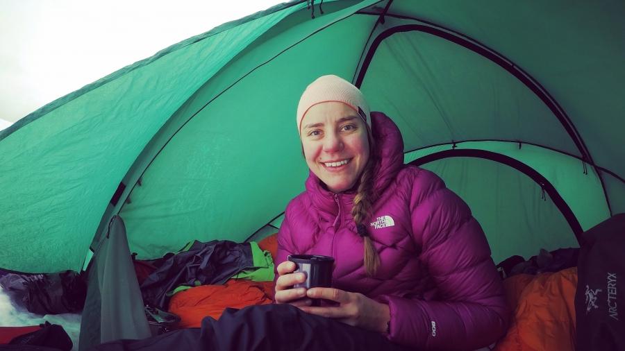 Thermospullosta juomassa Mt. Rainierilla
