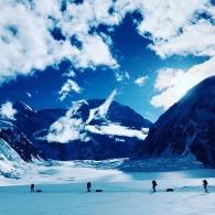 Köysistö Denalin jäätiköllä