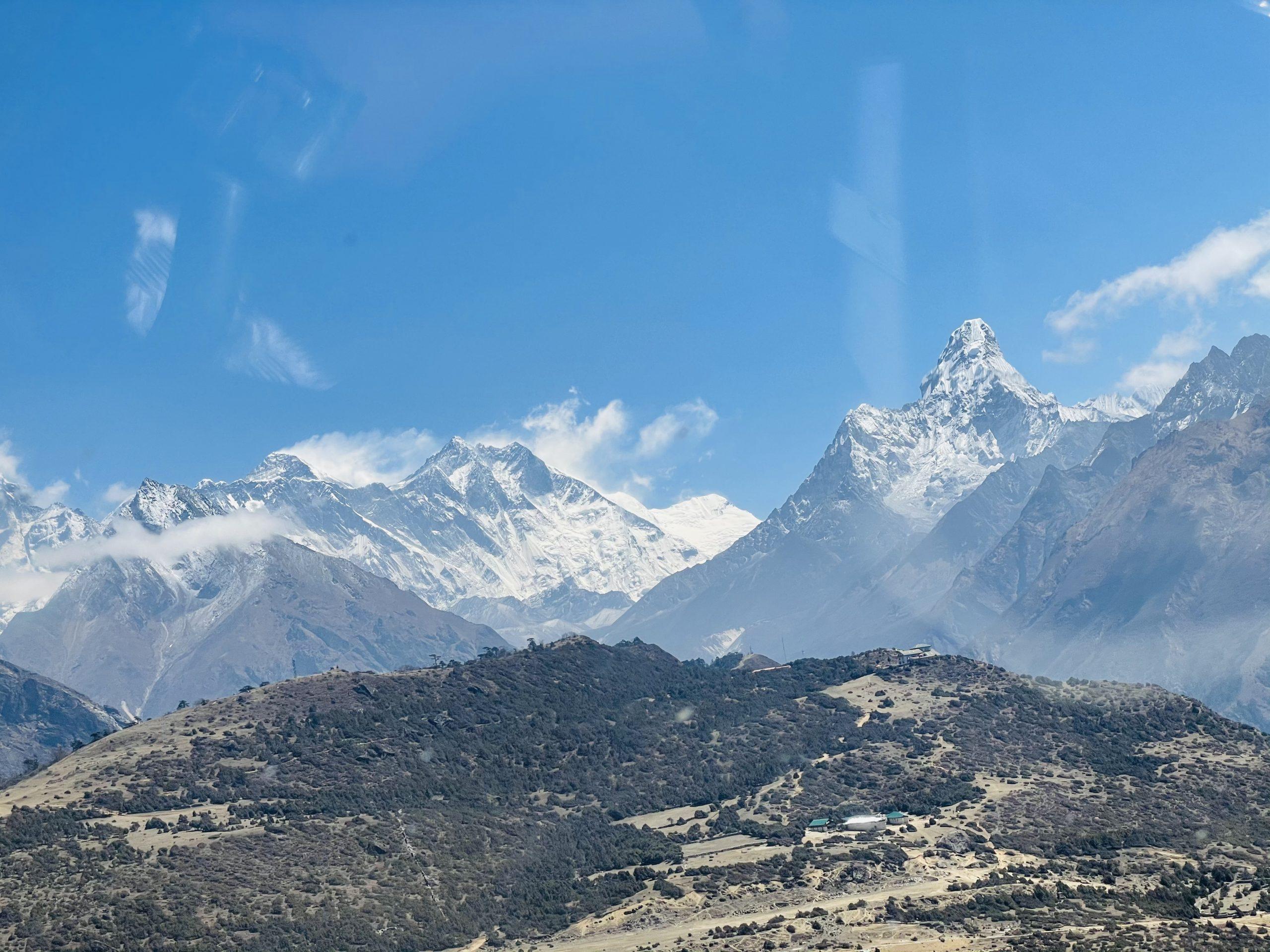 Ensimmäinen näkymä Everestille