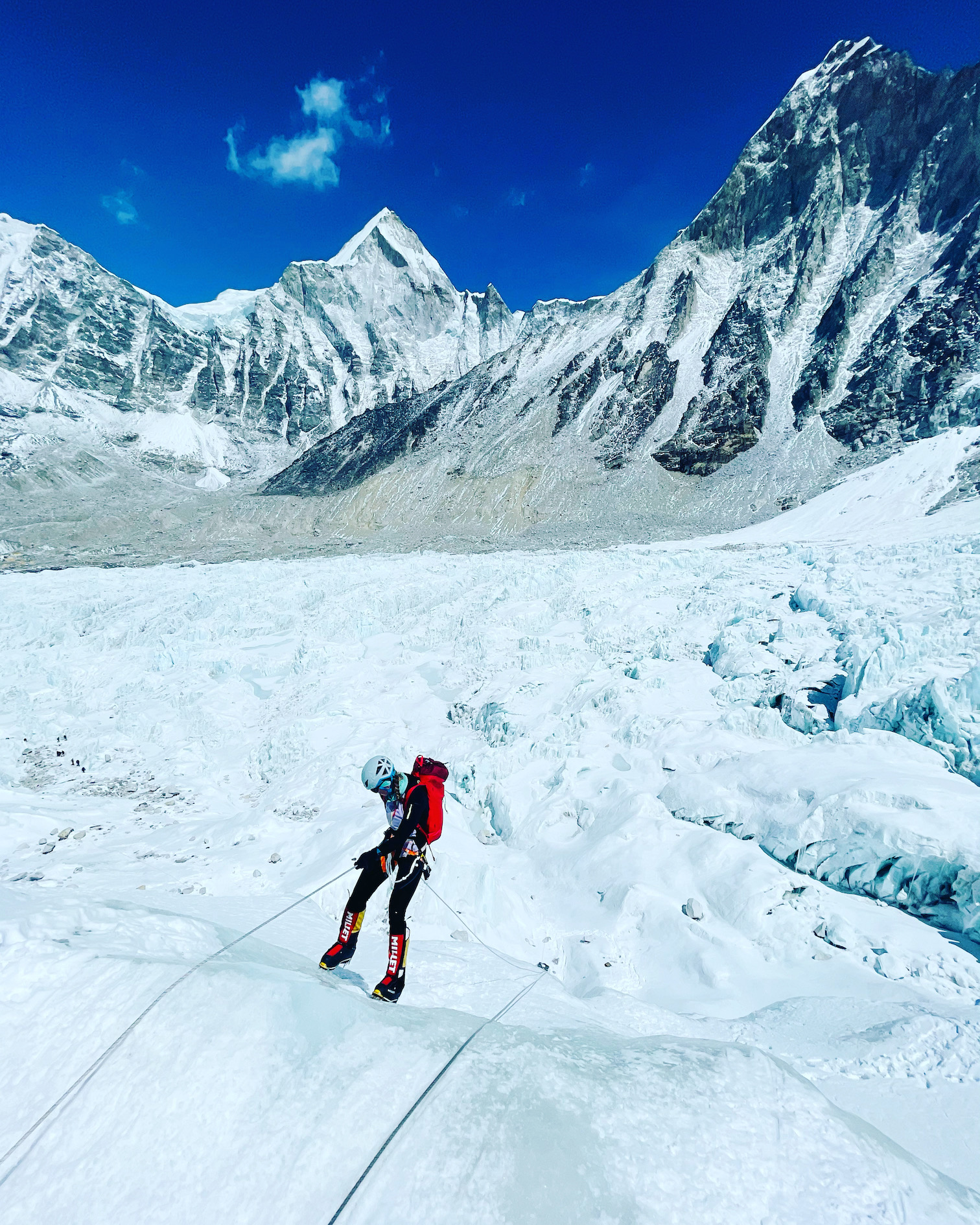 Khumbun jäätikkö laskeutuminen
