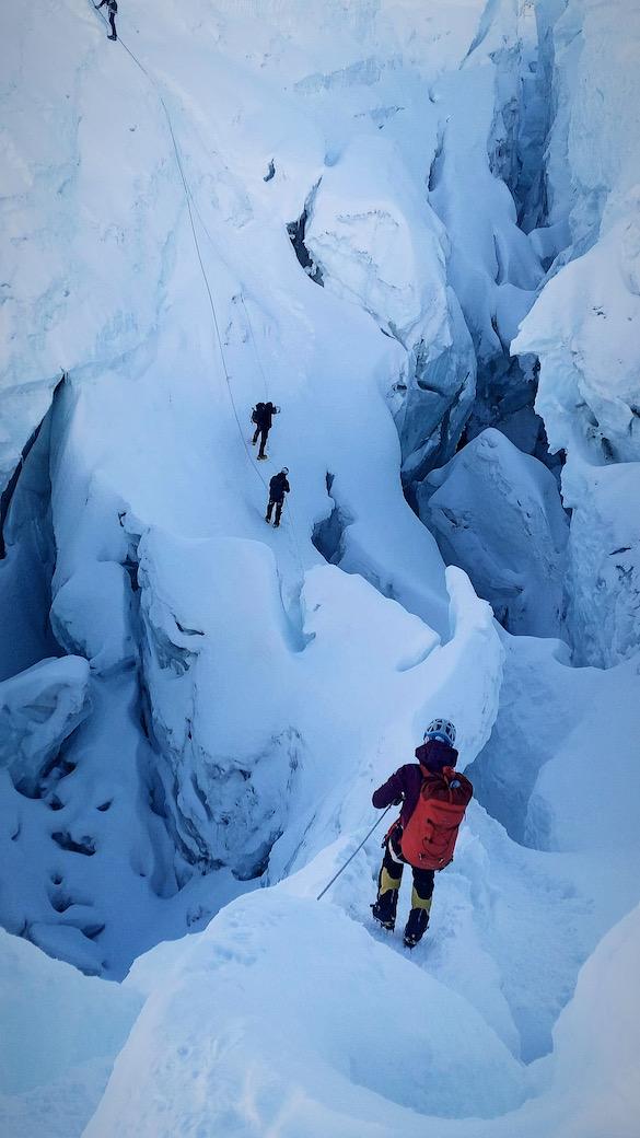 Railot Khumbun jäätikkö